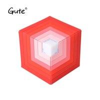 Gute magic hexahedron rainbow LED Light square Bluetooth speaker wireless Radio FM sound stereo boombox caixa de som portatil