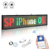 50CM RGB Mix Color P5 SMD Led Sign Programmable Scrolling Message LED Display Board Display Multi