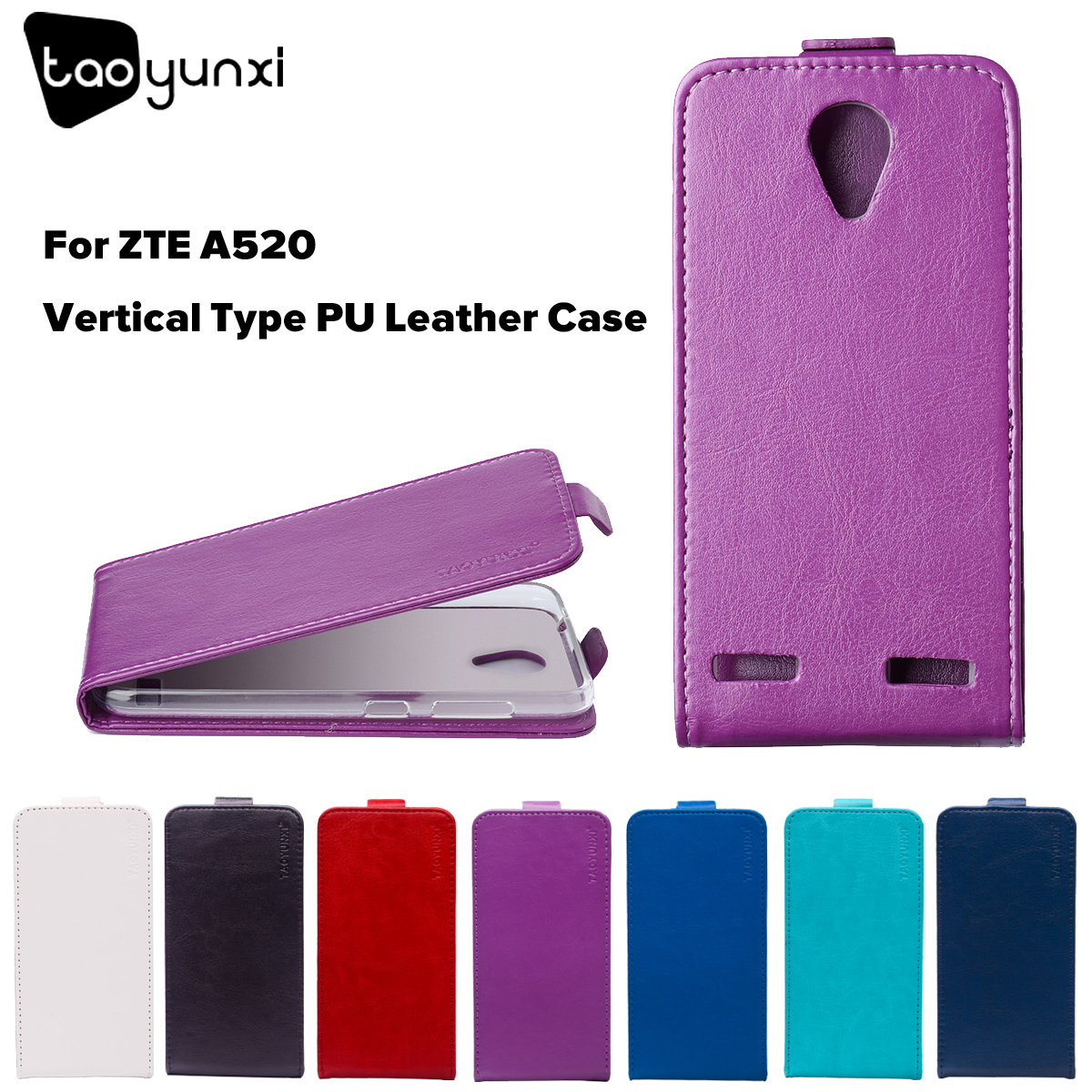 TAOYUNXI Flip Phone Case Cover For ZTE Blade A520 A 520 BA520 5.0 inch Cover TPU PU Leather Case Magnetic Mobile Phone Housing