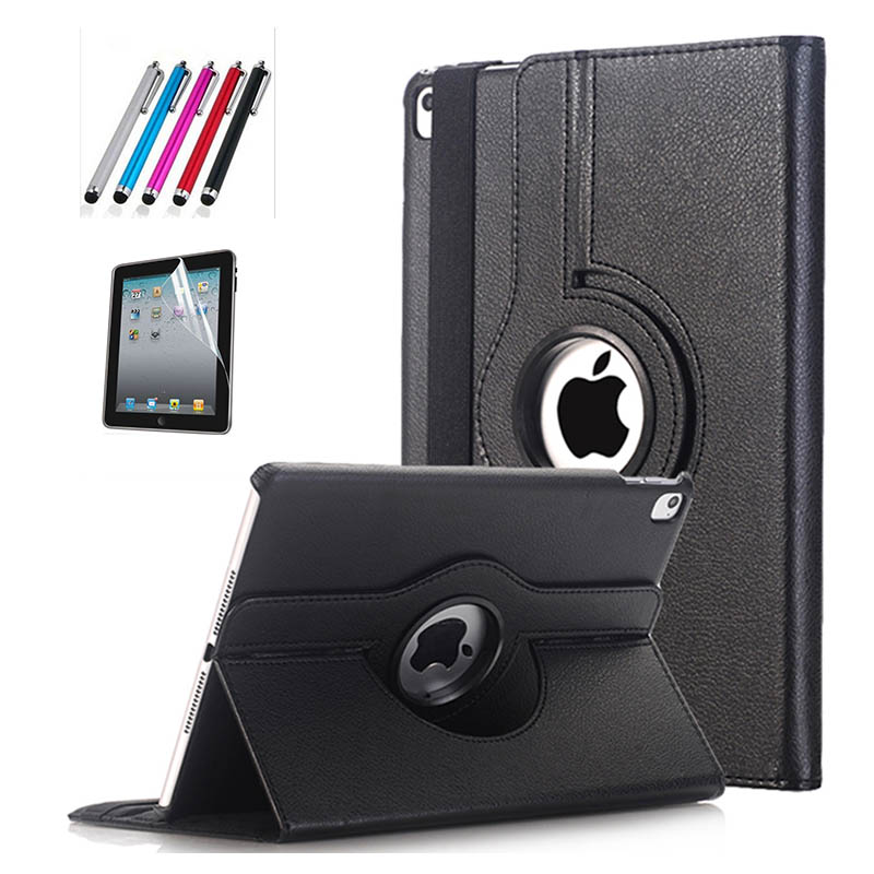 2017 new Cover For Apple iPad Pro 10.5 inch Case PU Leather Flip Smart Stand 360 Rotating Case Cover + Stylus Pen + flim new arrival 360 rotating stand flip pu leather case for apple ipad mini 1 2 3 7 9 inch tablet protective cover shell stylus