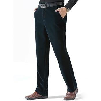 4401bf7407 Los hombres de negocios pantalones 2019 Color puro Formal Slim Fit vestido  pantalones hombres pantalones Oficina Pantalon Hombre Vestir Social traje  ...