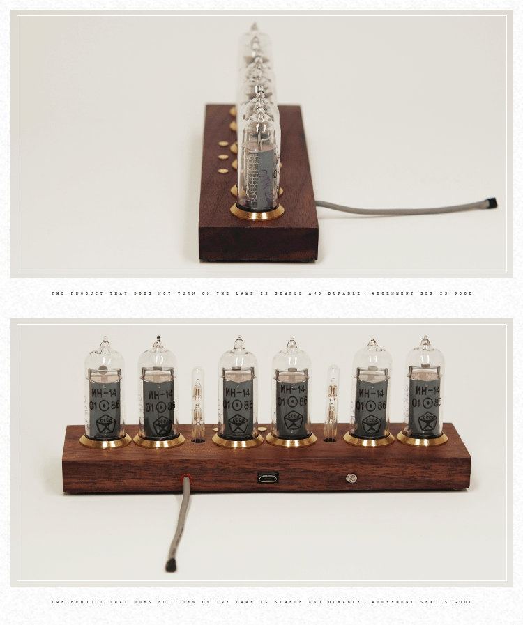 Former Soviet IN14 glow tube clock electronic tube clock NIXIE CLOCK without glow tube 3
