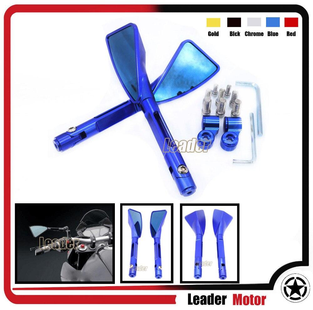 ФОТО For Suzuki B-King / GSF1250 GSF600 Gladius SFV650 SV650 SV1000 GSR600 Hot sale Motorcycle CNC Aluminum rearview Side mirror Blue