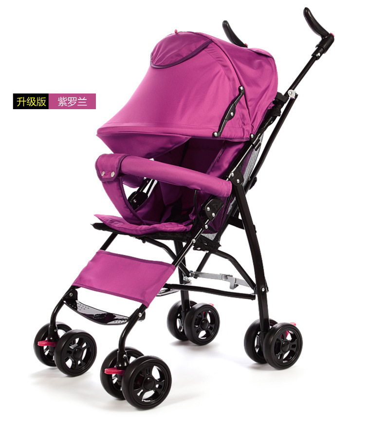 ФОТО Fashion Cartoon Ultra-light Portable stroller Prams Hold Vehicle Baby Fold Light Type Garden Cart Price At Factory for Newborn