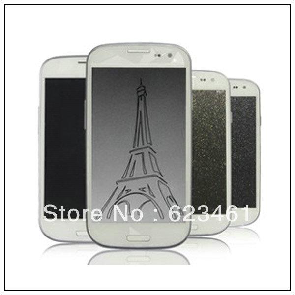 Eiffel Tower desgin Anti-fingerprint Screen protector for Samsung S3 i9300 Hot sale