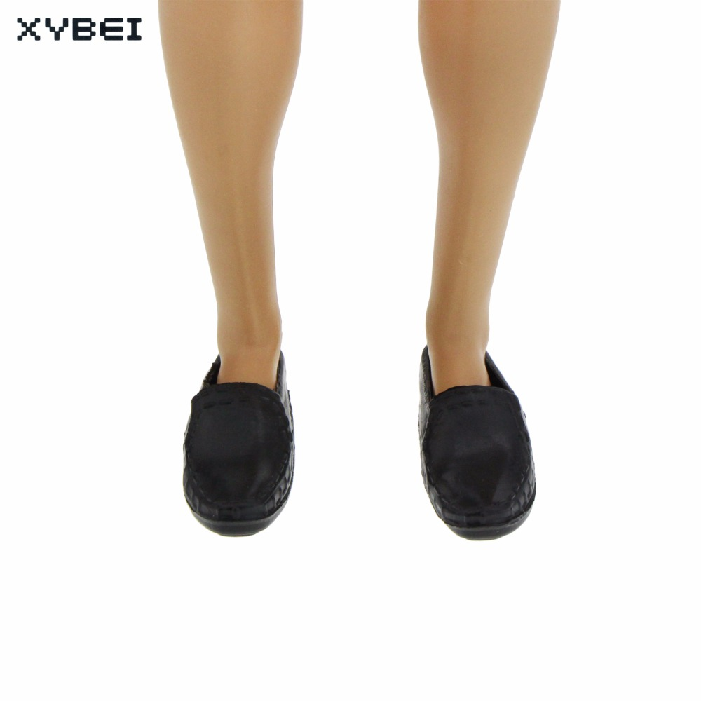 High Quality Cusp Shoes Formal Suit DIY Accessories Prince Male Dress Up Sneakers For Barbie Doll Boyfriend Ken Kids Gift Toys