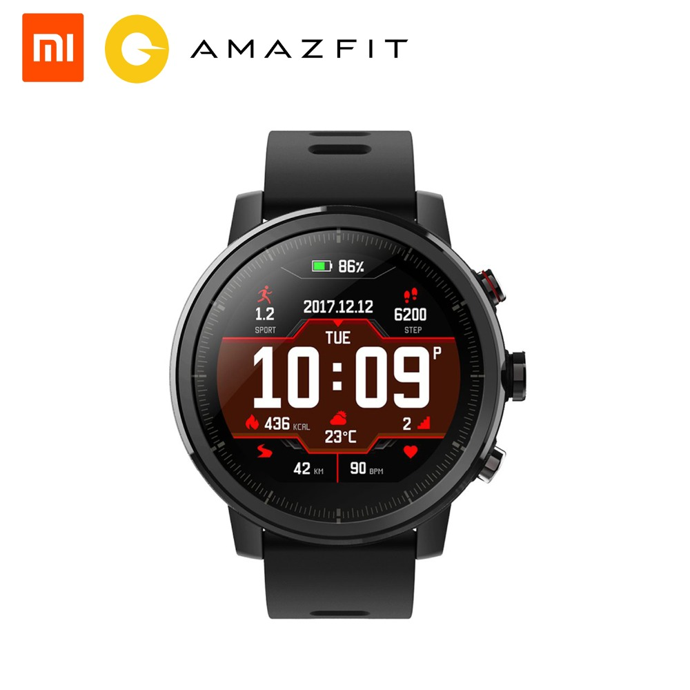 english Strong-Willed Xiaomi Amazfit Stratos Pace 2 Sports Smart Watch Bluetooth Gps Heart Rate Waterproof Smart Watch Touch Screen 512mb/4g Buy One Give One
