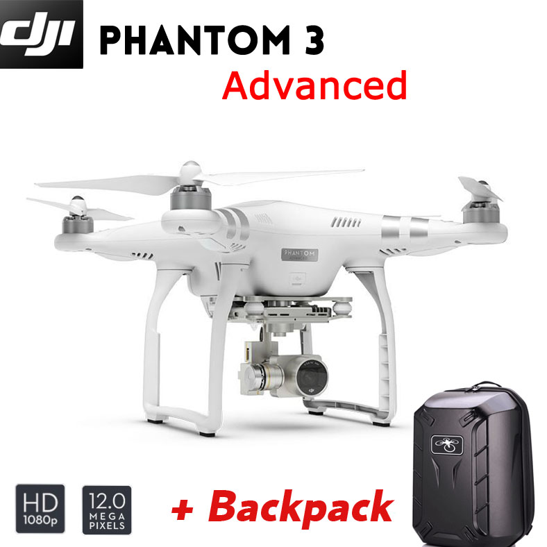 DJI Phantom 3 Advanced Quadcopter Drone 4K video 12 Megapixel Photo GPS system 3-Axis Stabilization Gimbal Live HD View