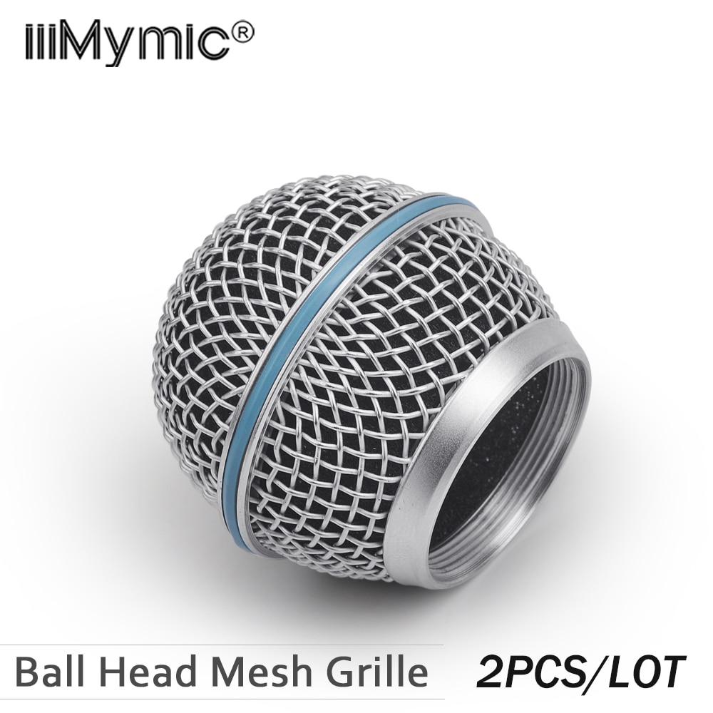 Nouvelle Grille de remplacement 2 pièces pour Microphone à tête sphérique Shure BETA58 BETA58A SM 58 SM58S SM58LC