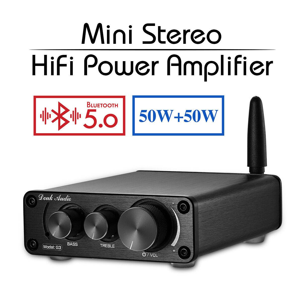 Nobsound dernier Mini TPA3116 Bluetooth 5.0 HiFi amplificateur de puissance stéréo maison Audio ampli avec des basses aigus