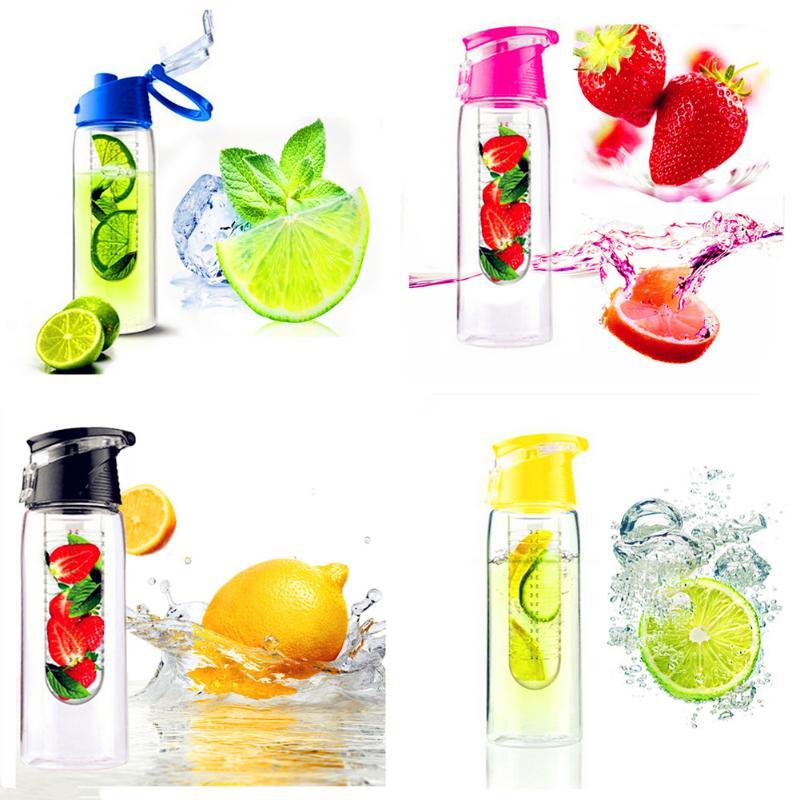 800ml Fruit Infusing Infuser Water Bottle Sports Lemon Juice Water Bottle Flip Lid For Camping Travel Outdoor Water Bottle