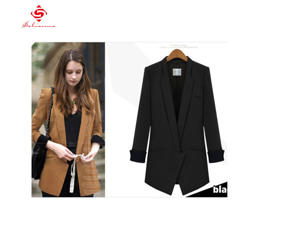 Long Black Blazer Jacket