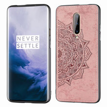 For One Plus 7 Pro Car Magnetic Mandala Pattern Fabric PC Panel TPU Frame Protection Case For One Plus 7 Pro Smartphone