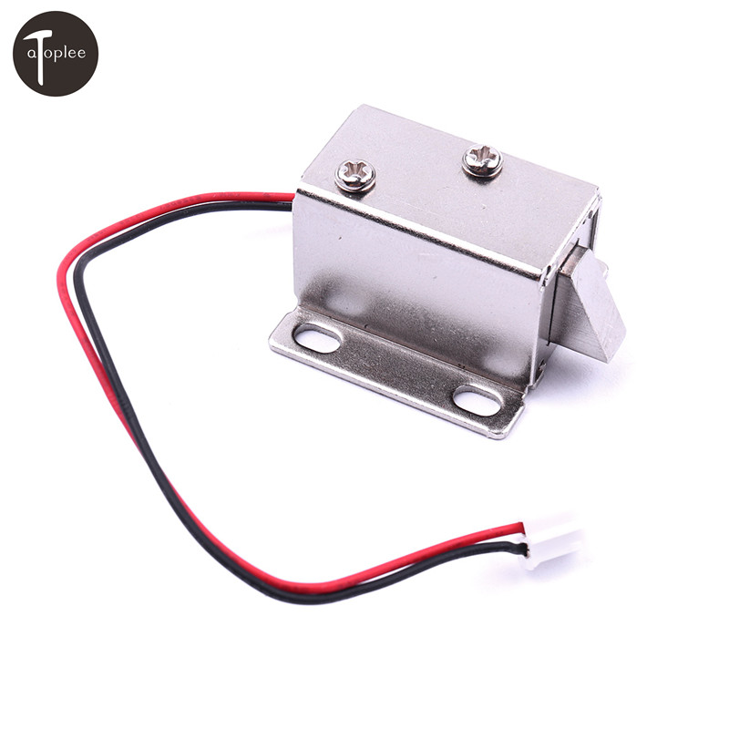 1PC DC12V 350MA/0.83A Cabinet Door Lock Electric Lock Assembly Solenoid Door Electronic Locks Controlled System 12v cabinet case electric solenoid magnetic lock micro safe cabinet lock storage cabinets electronic lock file cabinet locks