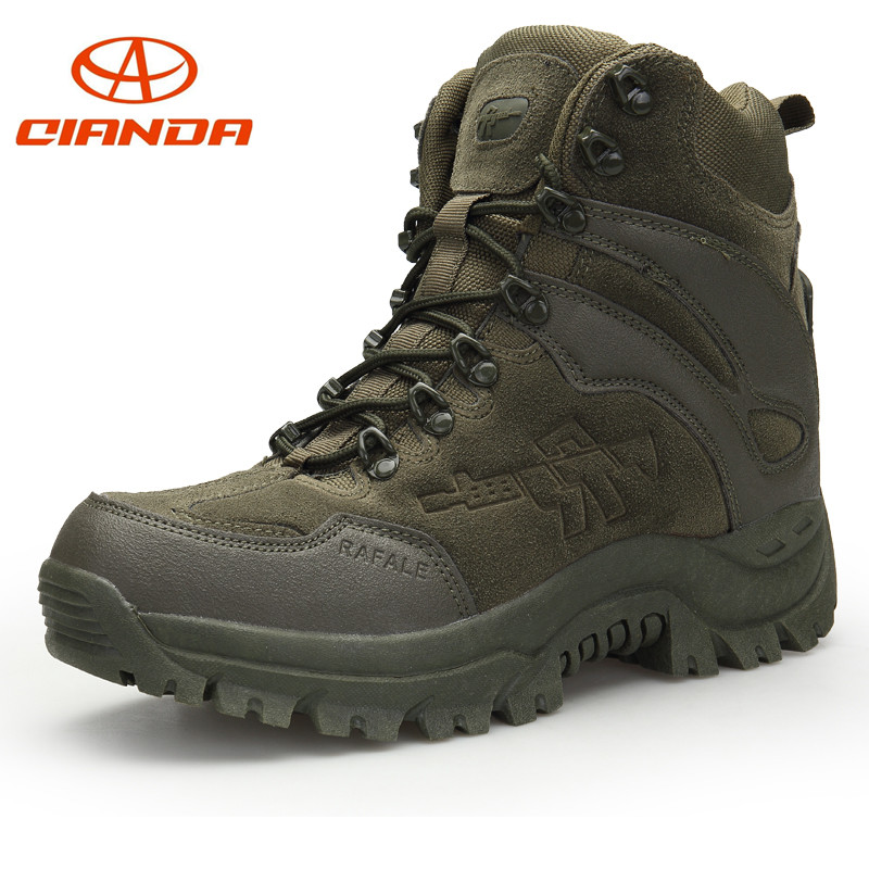 Professional Outdoor Sport Tactical Mountain Climbing Boot Men Wear resisting Shoes Non slip Large Size Trekking