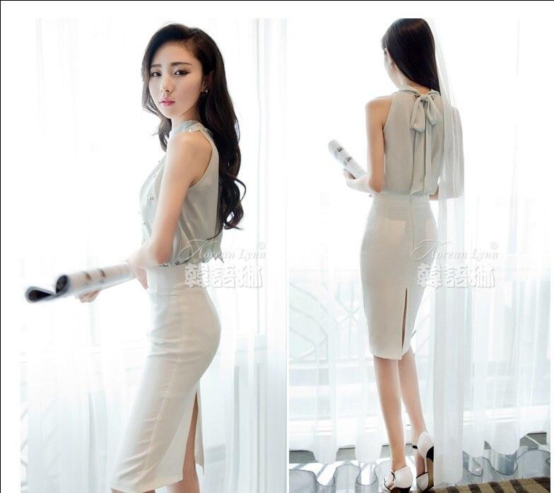 Blouse Korean Fashion Scarf Blouse Top