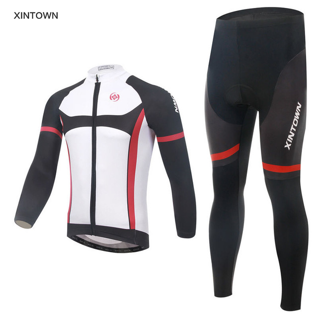 XINTOWN Autumn Sport Bicycle Wear Pro Long Sleeve Cycling Jersey Set Maillot Ropa Ciclismo Bicycle Clothing mtb Bike Jersey Suit xintown cycling clothing men long sleeve bike wear jersey sleeve suite mtb bicycle maillot ropa ciclismo sportswear roupa