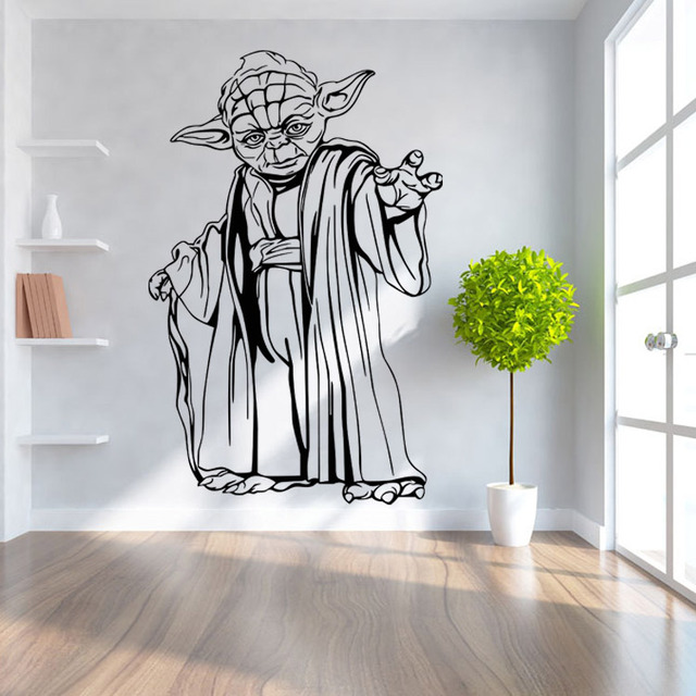 ZY8559 * filme Star wars StarWars dos desenhos animados home decor quarto sala de estar sala de crianças adesivos de parede removível à prova d' água para a telha