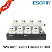 Escam OWL QD100 Night Vision Onvif P2P Mini IP Camera dome Camera+1080P 16CH Network Video Recorder K616 home security system