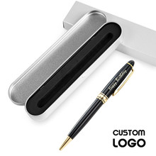 Personalized Pen Writing Metal Ballpoint Customized Logo Pens Engrave Company Name School Office Supplies Accessories