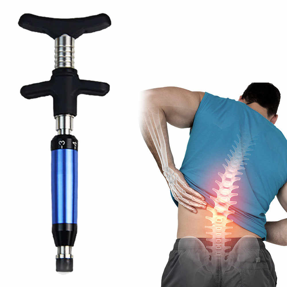 New Chiropractic Adjustable Tool Spine Back Activator Instrument 6 Levels Mechanic Therapy Adjust Vertebration Body Beauty