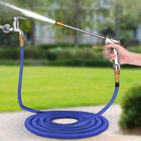 Hot Selling 25FT 75FT Garden Hose Drip Irrigation Expandable Magic Flexible Watering Hose Plastic Hoses Pipe Spray Gun Nozzle