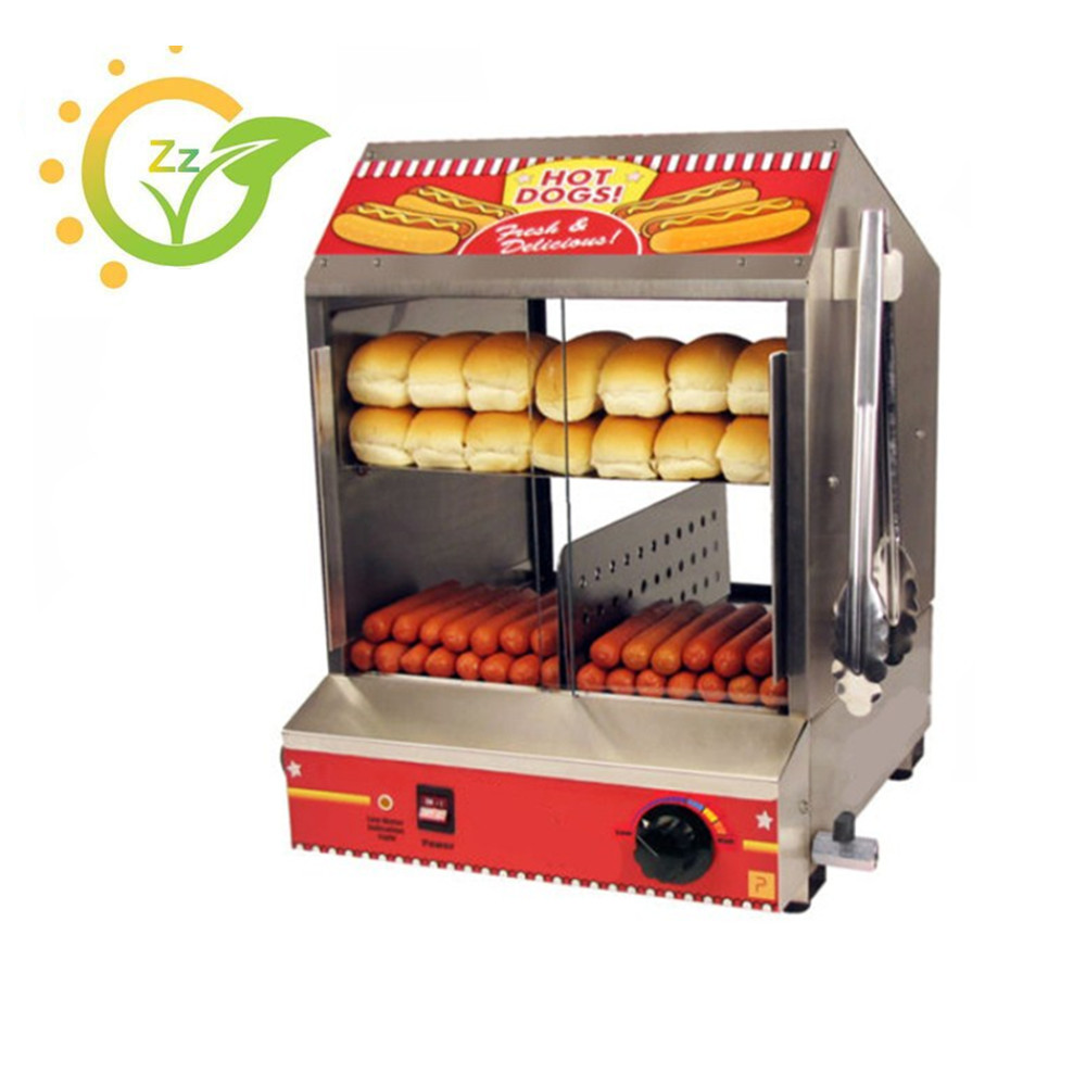 220V Commercial Hot Dog Display Showcase Electric Countertop for Cake Bread Steamer Machine Keep Warmer high quality hot dog display showcase food warmer stainless steel bread sandwich countertop tool