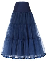 Tutu Skirt Navy Blue Silps Swing Rockabilly Petticoat Underskirt Crinoline Retro Skirt Petticoat Underskirt For Wedding