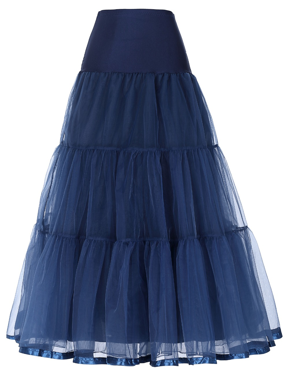 Beaut Shadow Store Tutu skirt navy blue silps swing rockabilly petticoat underskirt crinoline retro skirt petticoat underskirt for wedding bridal