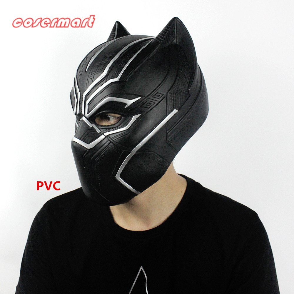 2016 Movie Cosplay Captain America: Civil War Helmet Cosplay Black Panther Helmet T'Challa Helmet Mask Party Halloween Prop