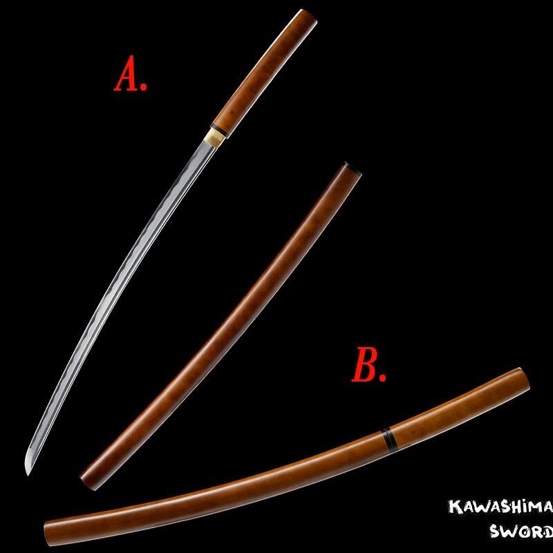 Katana japonais/Wakizashi véritable acier 1045 Shirasaya samouraï épée lame tranchante nouvelle marque fournir 41 pouces/30 pouces au choix