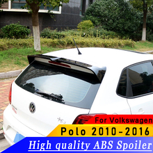 High quality ABS spoiler for Volkswagen  Polo 2010-2016 year primer or DIY color car rear wing
