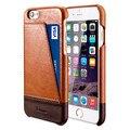 Para o caso apple iphone 6/6 s tampa traseira benuo couro genuíno 1 slot para cartão ultra fino estojo de couro genuíno para iphone 6 6 s