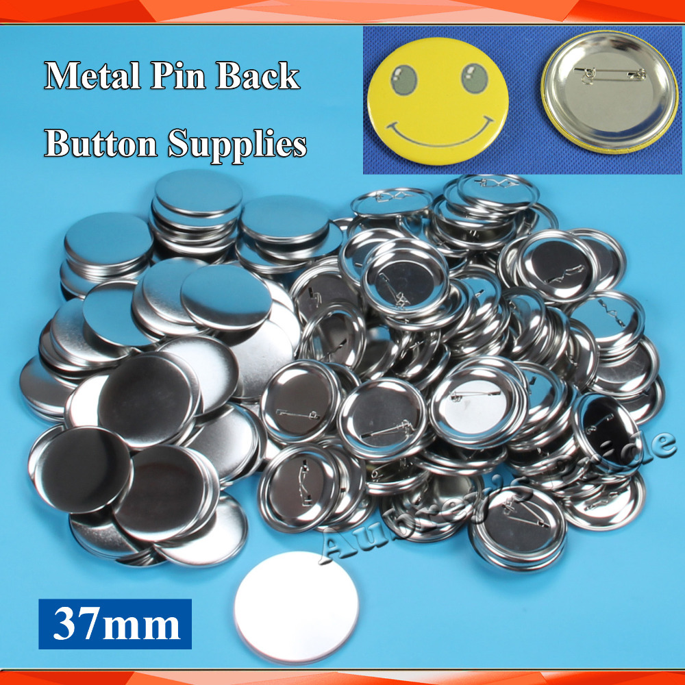 Free Shipping 1 1 2 37mm 200 Sets NEW Pro All Steel Badge Button Maker Pin