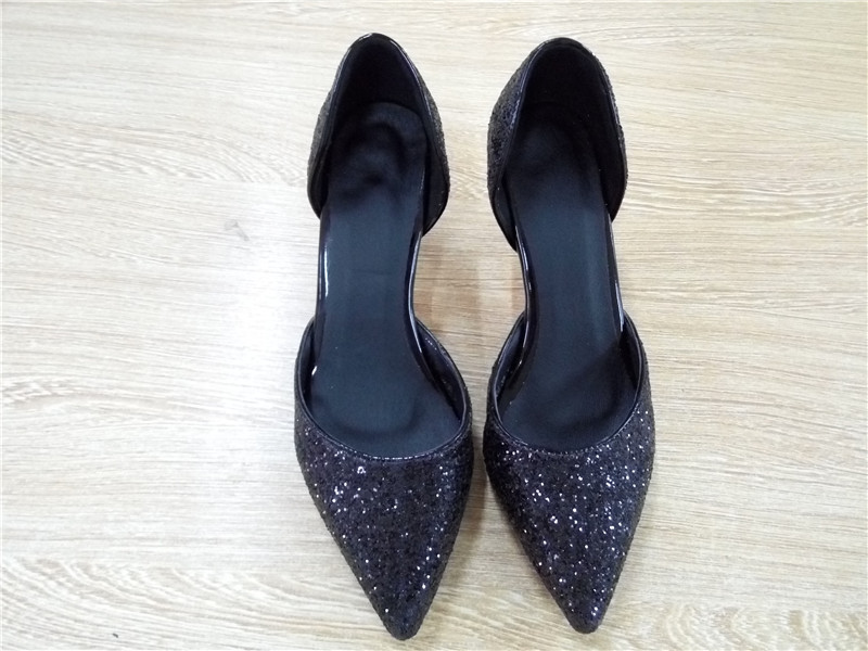 Women Shoes Fashion Sequined Cloth High Heels Pumps Women Elegant Luxury  Glitter Gold Silvery Wedding Party Pumps Bride Pumps-in Women s Pumps from  Shoes on ... ae454b392a19