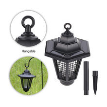 New Summer Eco-Friendly Hexagonal Solar Lights Mosquito Repeller LED Insect Pest Bug Zapper Killer Lawn Light Drop shipping(China)