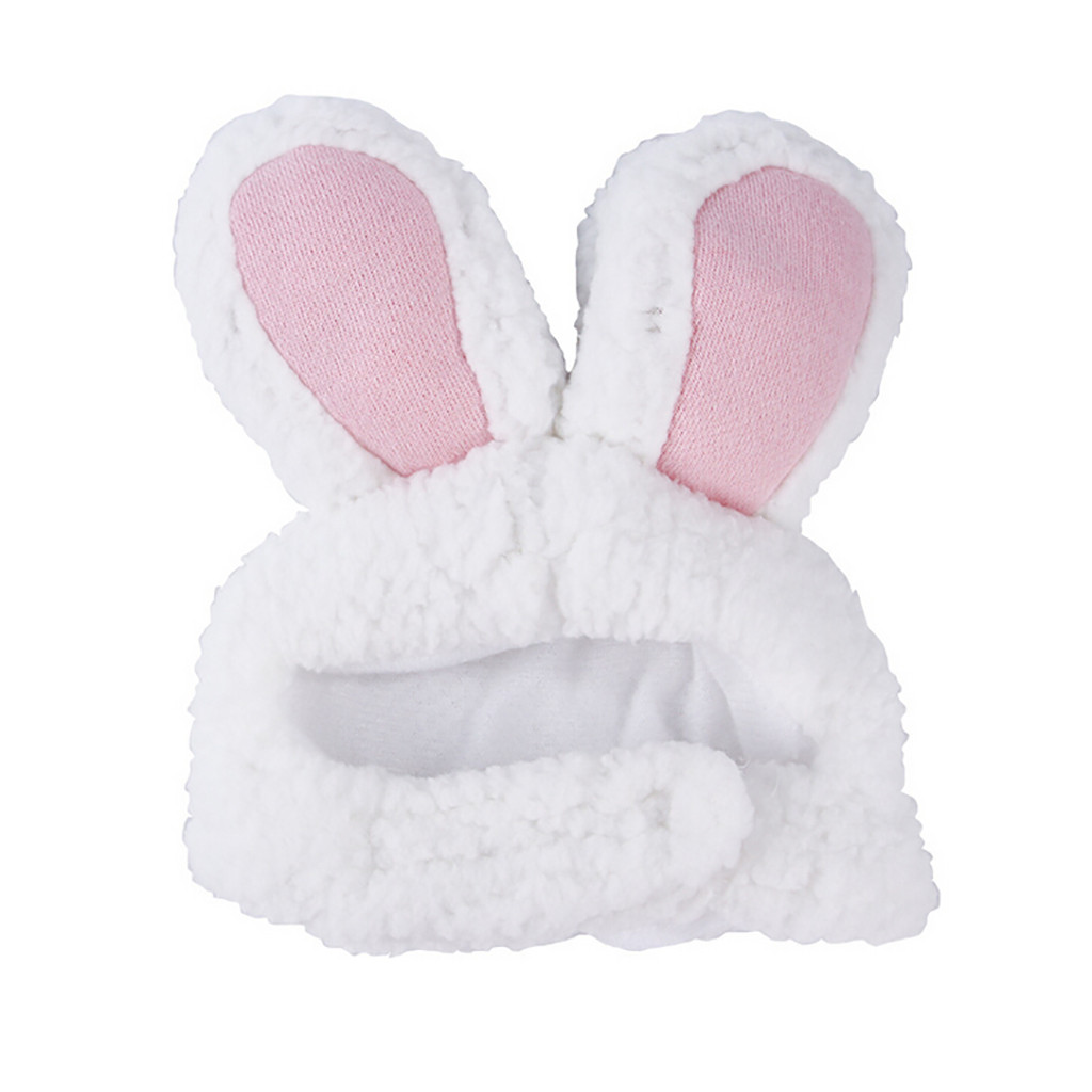 BWOGUE Cute Costume Bunny Rabbit Hat with Ears for Cats /& Small Dogs Party Costume Halloween Accessory Headwear