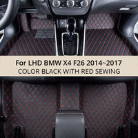 For LHD BMW X4 F26 2017 2016 2015 2014 Car Floor Mats Custom Rugs Auto Interior Leather Foot Mat Accessories Car styling