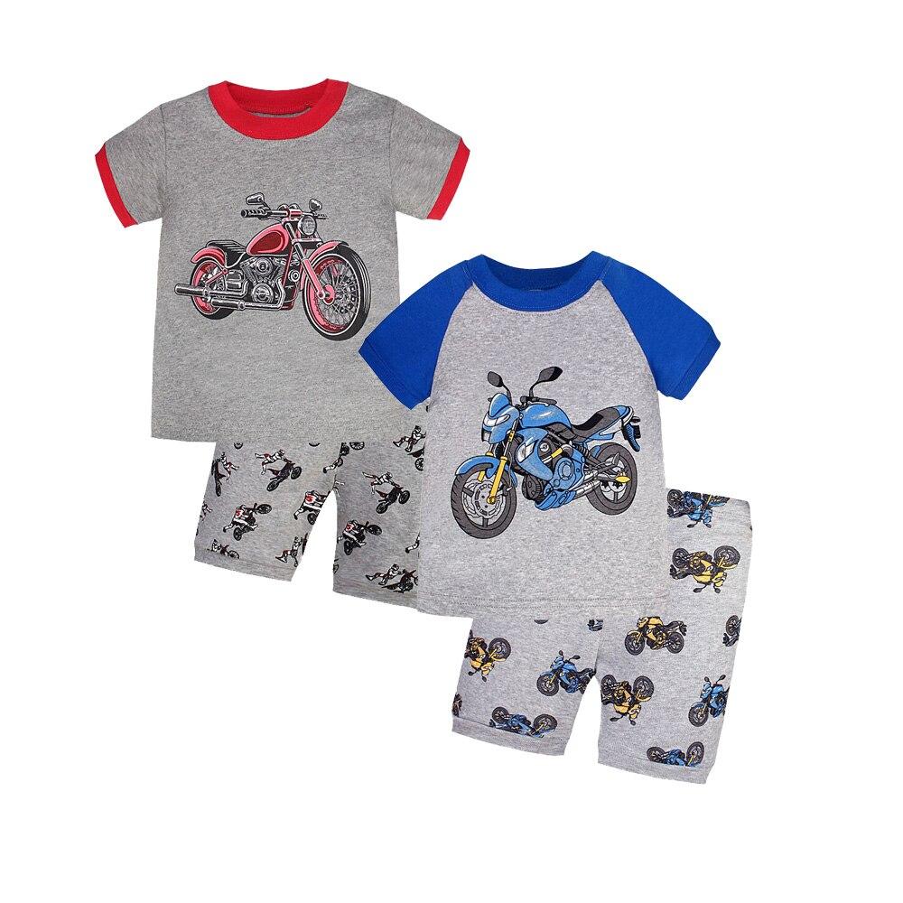 2 Pair Summer Pajamas Baby Boys Siut Cotton Pijama Clothing Girls Pyjamas Cartoon Sleepwear Kids Sports