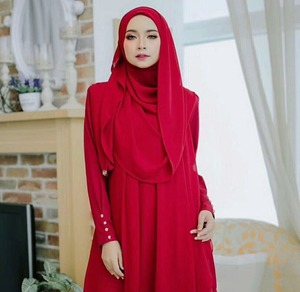Image 4 - Peacesky women plain bubble chiffon scarf hijab wrap printe solid color shawls headband popular hijab muslim scarves/scarf