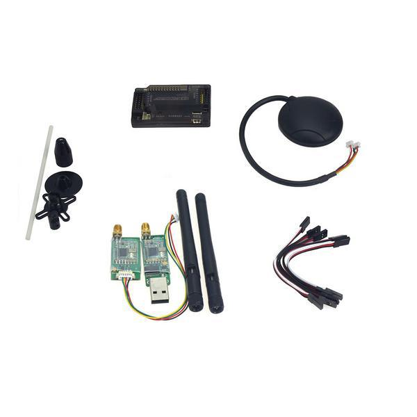 APM2.8 Flight Control with Compass,6M GPS,GPS Folding Antenna,3DR Radio Telemetry Kit for DIY FPV RC Drone Multicopter F15441-D