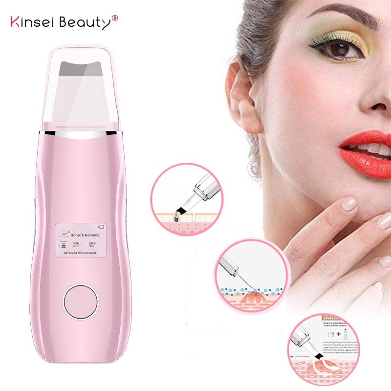LCD Ultrasonic Skin Scrubber Deep Cleaning Facial Peeling Shovel Pore Blackhead Cleaner USB Charger EMS Facial Lifting Machine