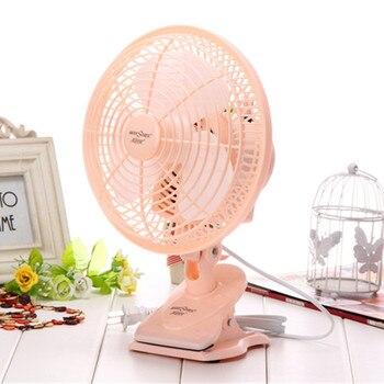 Свинья прекрасный 20 Вт лето продажа 90 градусов поворотный Цвет Электрический мини студенческий клип swimng вентилятор