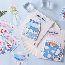 Kawaii Blues series Memo Pad Planner sticky notes Cute Stationery Paper Bookmarks papelaria School Office Supply
