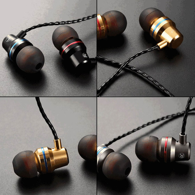 DUSZAKE In-Ear Headphones For Xiaomi Earphone For Phone Stereo Bass Headset Metal Wired Earphone HiFi Headphones Mic for Samsung 5