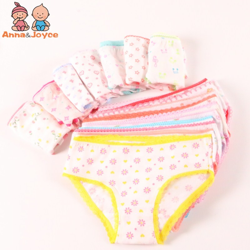 20pcs/Lot 100% Cotton Panties Girls Kids Short Briefs Children Underwear Child  Shorts Underpants Girls Gifts Suit 1-12years