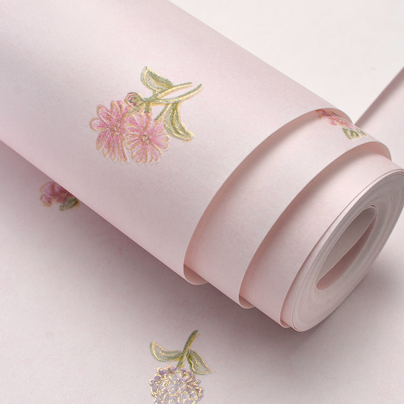 Non-woven Floral Wallpaper Design for Walls Modern Small Flower 3D Wall Paper For Wedding Living Room Bedroom Paper Contact 10M modern vertical striped wallpapers design non woven wall paper for walls living room 3d wallpaper roll 3d background wallpaper