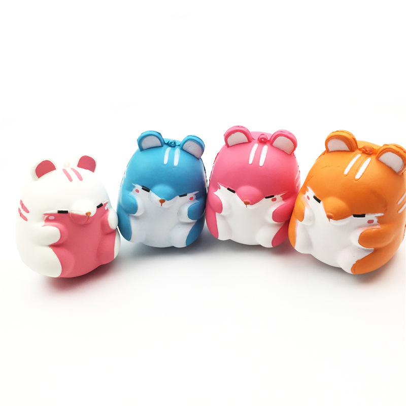 Hamster Mouse Squishy Slow Rising Jumbo Toys Phone Straps Charm Kawaii Soft Play Food Kitchen