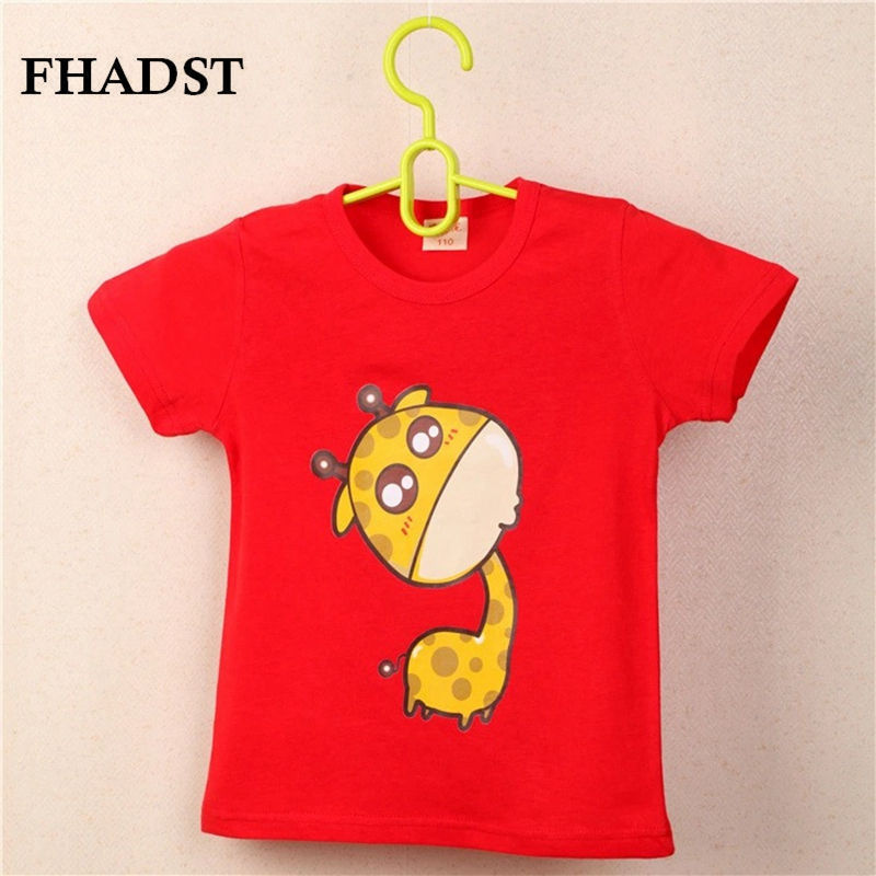 FHADST Summer Unisex Baby 0-2 year Boys Red Cool T shirt Short Sleeve 100% Cotton Casual tees Kids Clothes Character Cute Animal