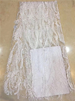 Beautiful white embroidery mesh mateiral French tulle net lace fabric for evening dress PDN73(5yards/lot) multi color